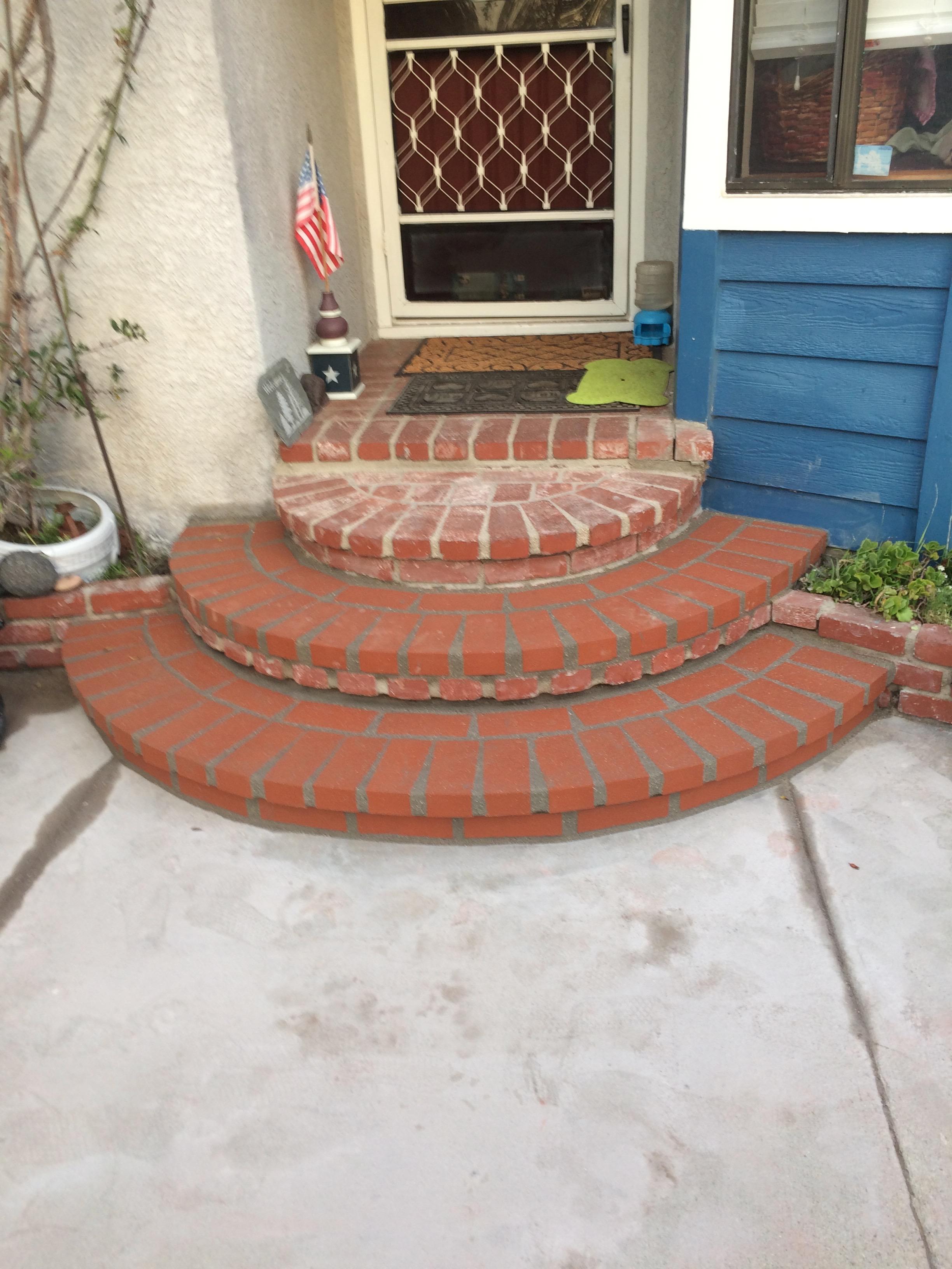 Brick porch