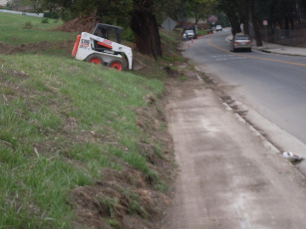 Landslide Cleaning in Progress