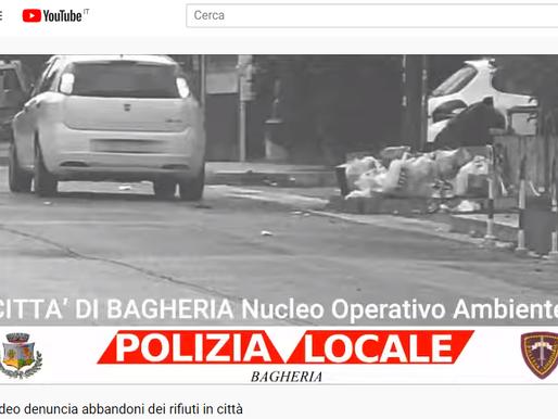Bagheria. Nuovo video denuncia contro chi abbandona i rifiuti