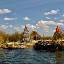 Floating Reed Island - Lake Titcaca