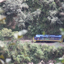 Goodbye Inca Train - no where to go but up