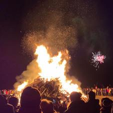 New Years Eve Bonfire in Reyjkjavik