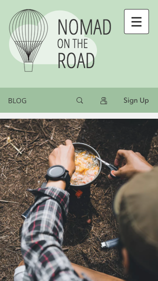 Travel blog mobile website template from Wix