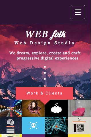 Web Design Wix Template Mobile
