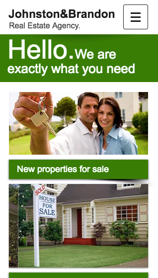 Estate agents mobile Wix website template