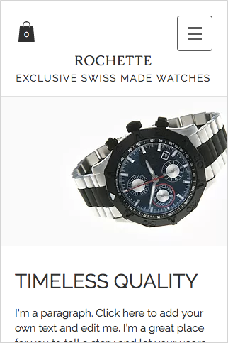 Exclusive Watches Wix Template Mobile