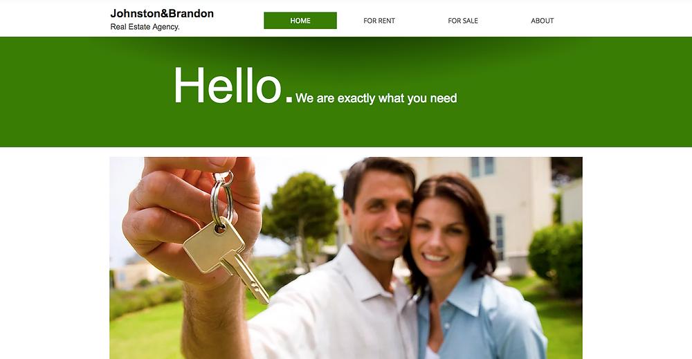 Estate agents Wix website template