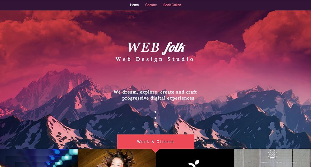 Web Design Wix Template Desktop