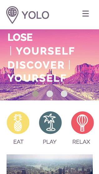 Tour Operator Mobile Wix Template