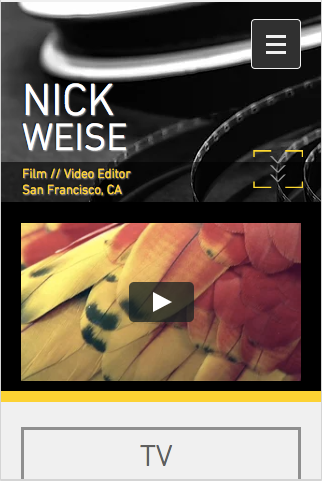 Video Editor Wix Template Mobile