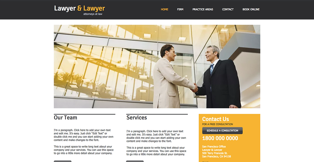 Lawyer Wix Template
