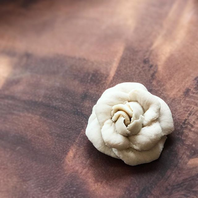 Camellia- bean paste flower cookie