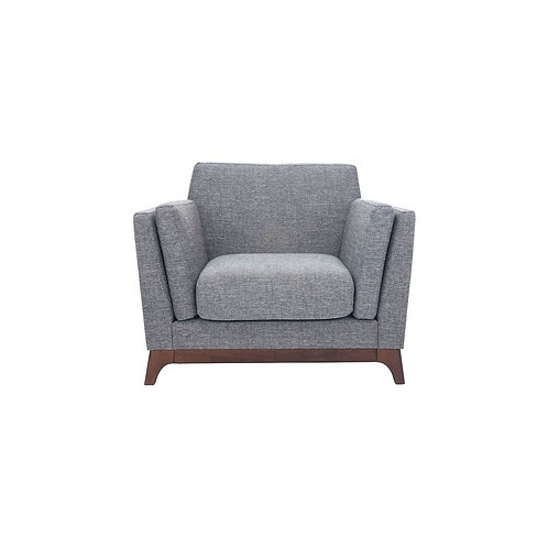 Chloe 1 Seater Armchair - Coral & Cocoa