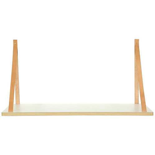 Edge Shelf With Leather Rope