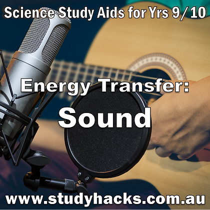 Year 9/10 Science Exam Study Notes Energy Transfer Sound Waves Waveforms test past papers half yearly assessment revision