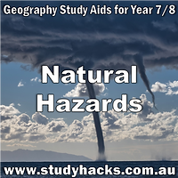 Year 7 8 Geography Natural Hazards study notes exam test questions past papers revision