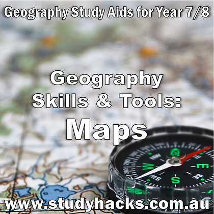 Year 7/8 Geography Study Notes Skills Tools Maps Topographic Weather Scales exam test quiz past papers half yearlys