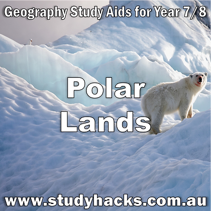 Year 7/8 Geography Study Notes Polar Lands Antartica exam test quiz past papers half yearlys assessments
