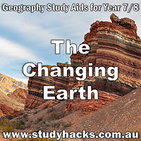Year 7 8 Geography The Changing Earth study notes exam test questions past papers revision