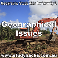 Year 7 8 Geography study notes Geographical Issues exam test questions revision past papers