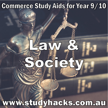 Commerce Study Notes Law Society Legal System Courts Classifications Accessing exam test past papers yearlys Year 9 10
