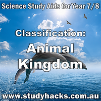 Year 7 8 Science Classification Animal Kingdom study notes exam test questions past papers revision