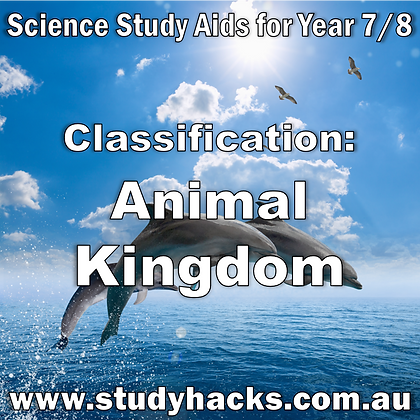 Year 7/8 Science Study Notes Classification Animal Kingdom Vertebrates Invertebrate Mammal exam test quiz past papers yearlys
