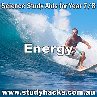 Year 7 8 Science Energy study notes exam test questions past papers revision