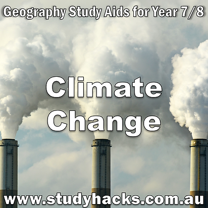 Year 7/8 Geography Study Notes Climate Change Alternative Energy Greenhouse Effect exam test past papers yearlys assessments