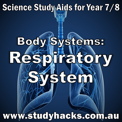 Year 7/8 Science Study Notes Body Systems Respiratory exam test quiz past papers half yearlys