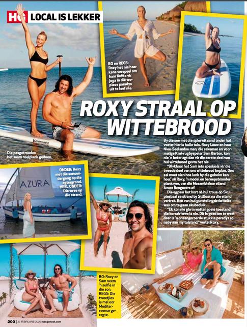 Roxy and Sam Barton honeymoon