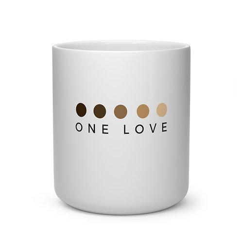 One Love Heart Shape Mug White