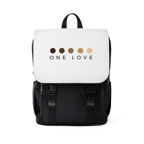 Unisex One Love Casual Shoulder Backpack