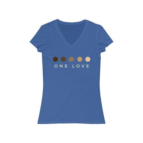 One Love Women's Jersey Short Sleeve V-Neck Tee