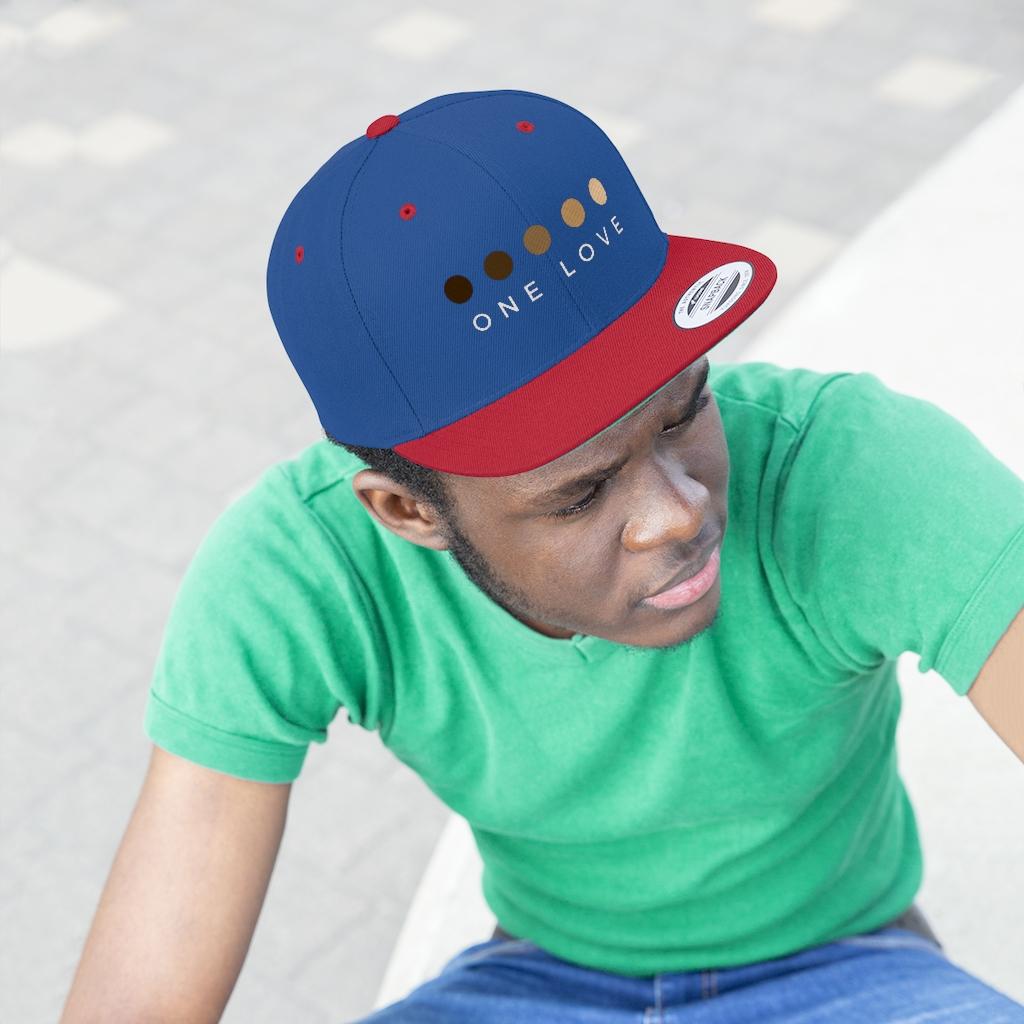 one-love-unisex-flat-bill-hat