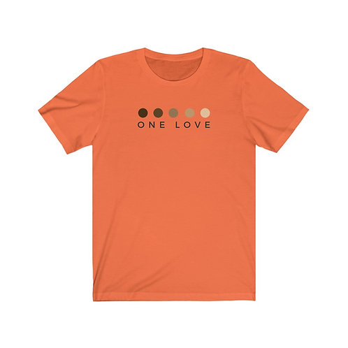 One Love Unisex Jersey Short Sleeve Tee