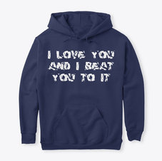 Unisex I Love You Pullover Hoodie