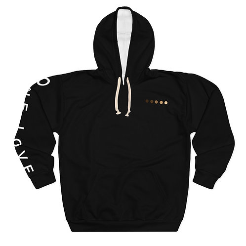 One Love Sleeve Expression Unisex Pullover Hoodie