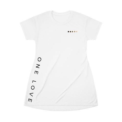 Women's One Love Sideswipe T-Shirt Dress