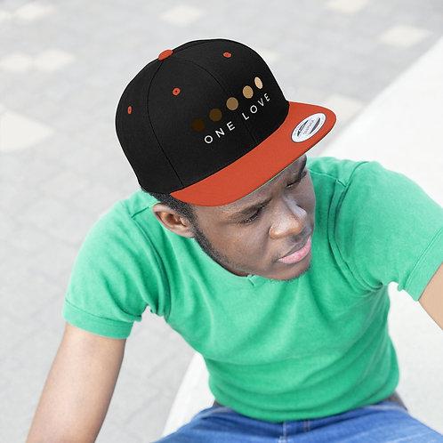 One Love Unisex Flat Bill Hat