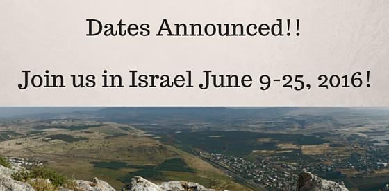 Israel Trip Update
