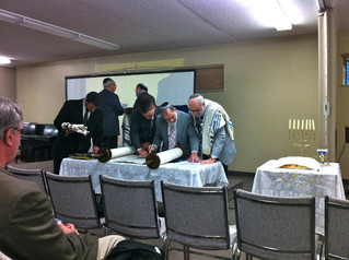 Pouring over the Torah in Toronto on Shabbat