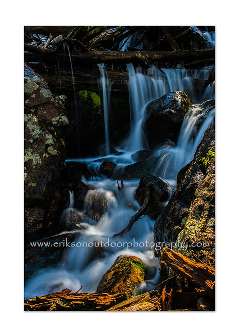 Waterfall, Rocky Mountain National Park, Colorado, Cards and Prints