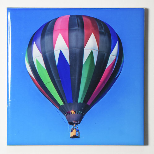 Ceramic Coaster or Trivet - Hot Air Balloon, Quechee, Vermont