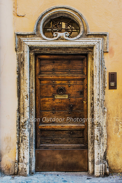 Door In Rome #2, Italy, Cards and Prints