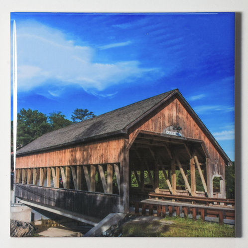 Ceramic Coaster or Trivet - Quechee Bridge, Quechee,Vermont