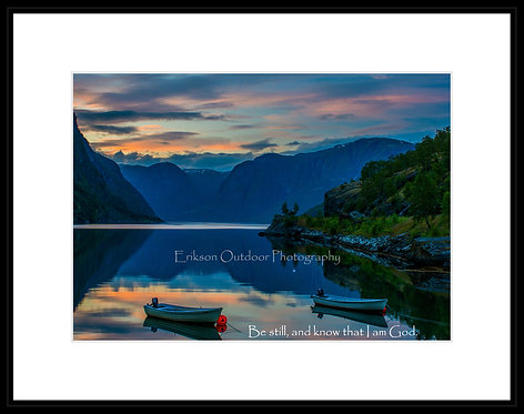 Signed print with matte and optional frame / Psalm 46:10