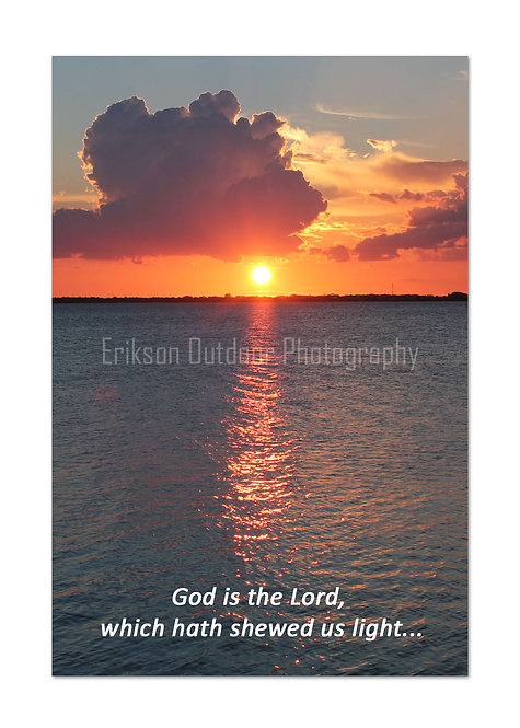 Scripture greeting card KJV, Psalm 118:27