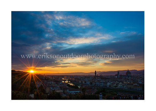 Sunset over Florence/Florence Italy, Cards and Prints