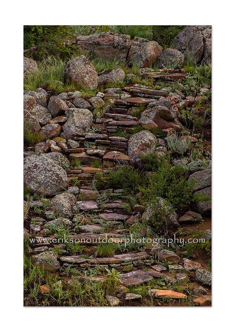 Stone Steps, Estes Park CO, Cards and Prints